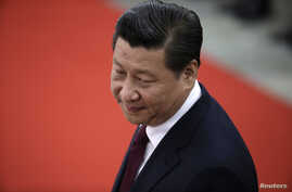 China's President Xi Jinping at the Great Hall of the People in Beijing, Dec. 23, 2014.