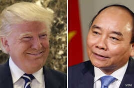 File - President-Elect Donald Trump and Prime Minister of Vietnam Nguyen Xuan Phuc