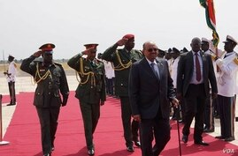 Sudanese President Omar al Bashir begins his first visit to South Sudan on Friday, April 12, 2013.