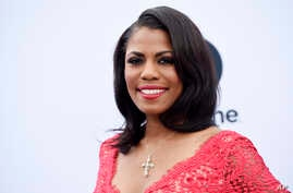 FILE - Omarosa Manigault poses at The Hollywood Reporter's 25th Annual Women in Entertainment Breakfast, Dec. 7, 2016, in Los Angeles.