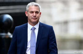 Britain's Secretary of State for Exiting the European Union Stephen Barclay is seen outside Downing Street in London, Britain, Feb. 13, 2019.