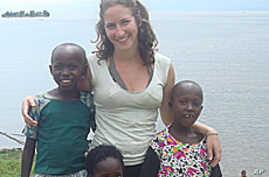 Peace Corps volunteers like Sonia Morhange, seen here in Rwanda, are no longer as isolated from home as they once were.