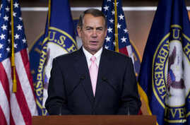 House Speaker John Boehner of Ohio speaks during a news conference on Capitol Hill in Washington, June 11, 2015.