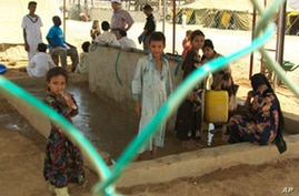 At the Mazrak camp, unlike in many of the dry, war-torn villages, at least there is enough available water