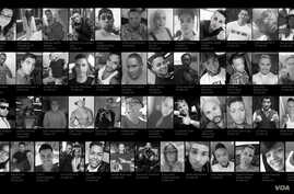 The victims of an attack at a gay nightclub in Orlando, Florida, the worst mass shooting in U.S. history.