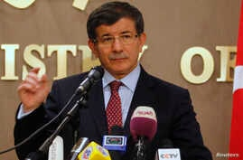 Turkey's Foreign Minister Ahmet Davutoglu (file photo)