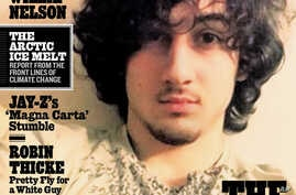 In this magazine cover image released by Wenner Media, Boston Marathon bombing suspect  Dzhokhar Tsarnaev appears on the cover of Rolling Stone - Aug. 1, 2013 issue.