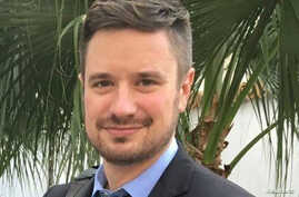 FILE - Michael Sharp, an American investigator for the United Nations, found murdered this week in the Democratic Republic of the Congo, is shown in this photo taken in Goma, Congo, February 7, 2017.
