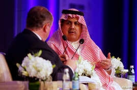 Chief Executive Officer of the Saudi Stock Exchange (Tadawul) Khalid al-Hussan gestures during Euromoney Conference in Riyadh, Saudi Arabia May 3, 2016.