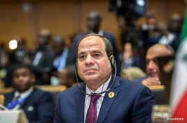 Egypt's President Abdel-Fattah el-Sissi listens at the opening ceremony of the African Union summit in Addis Ababa, Ethiopia, Jan. 28, 2018.