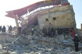 The ruins of a hospital in Idlib province in northern Syria are seen in this image provided by Doctors Without Borders Feb. 15 2016.
