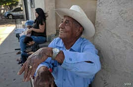 """It's calm here and there,"" says Heriberto González, a longtime resident of San Luis, Ariz. Like other residents of the border town, he is not bothered by the deployment of the National Guard to the area either."