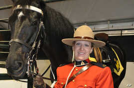 Constable Lynn Willms and her mount Angel are part of the Royal Canadian Mounted Police Musical Ride