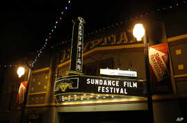 The marquee at the Egyptian Theatre on Main Street is seen at night during the 2013 Sundance Film Festival in Park City, Utah, January 17, 2013.