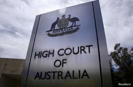 FILE - The High Court of Australia in Canberra, Australia, Oct. 15, 2014.
