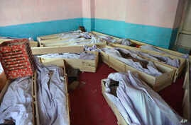 Bodies of security forces in Ghazni hospital