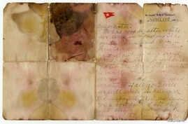 A letter written on April 13, 1912 and recovered from the body of Alexander Oskar Holverson, a Titanic victim, was due to be auctioned on Saturday, and is seen in this photograph received via Henry Aldridge & Son, in London, Britain, Oct. 20, 2017.