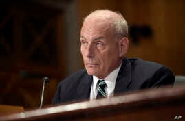 Homeland Security Secretary John F. Kelly testifies on Capitol Hill in Washington, June 6, 2017, before the Senate Homeland Security and Governmental Affairs Committee hearing on the fiscal year 2018 budget. (