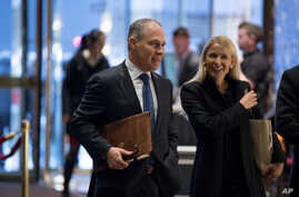 Oklahoma Attorney General Scott Pruitt arrives at Trump Tower in New York, Dec. 7, 2016.