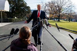 President Donald Trump announces that he is nominating William Barr, attorney general under President George H.W. Bush, as his Attorney General, on the South Lawn of the White House, Friday, Dec. 7, 2018, in Washington.
