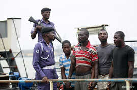 "Report by  International Maritime Bureau  calls the Gulf of Guinea a ""world piracy hotspot."""