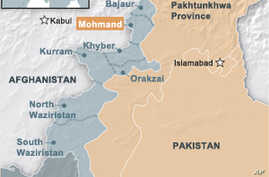 Map of tribal areas in Pakistan