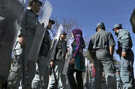 Afghans Protest Parliamentary Vote