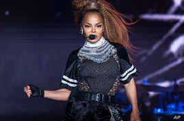 FILE - In this July 8, 2018 file photo, Janet Jackson performs at the 2018 Essence Festival in New Orleans.