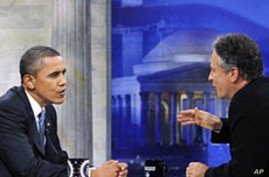 President Obama Appears on 'The Daily Show'