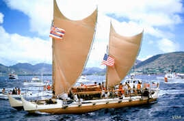 The Hawaiian sovereignty movement gained momentum in 1976 after the Polynesian Voyaging Society sailed the Hōkūle'a, a double-hulled canoe from Hawaii to Tahiti, proving ancient Polynesians' navigation skills. Photo by Phil Uhl.