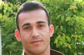 Iranian Kurdish dissident Ramin Hossein Panahi, who faces execution in Iran for membership in the Kurdish nationalist group Komala, appears in this undated photo.