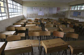 General view of an empty classroom at St Mary Primary School in Nairobi, Kenya, Sept. 6, 2011, because of a teachers' national strike.