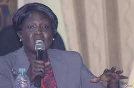 Jehan Deng, Minister of Health and the Environment for Jonglei state, speaks at the Voice of America town hall in Juba on Thursday, March 28, 2013.