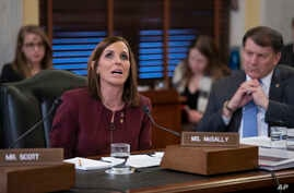 During a hearing by the Senate Armed Services Subcommittee on Personnel about prevention and response to sexual assault in the military, Sen. Martha McSally, R-Ariz., recounts her own experience with sexual assault while serving as a colonel in the A