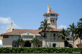 FILE - US President Donald Trump's Mar-a-Lago estate is seen in Palm Beach, Florida, US., April 16, 2017.