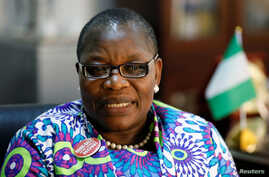 Former Nigerian minister and Chibok girls activist Obiageli Ezekwesili speaks during an interview with Reuters in Abuja, Nigeria,  Oct. 8, 2018. Ezekwesili dropped her presidential bid to support a coalition against the main parties.
