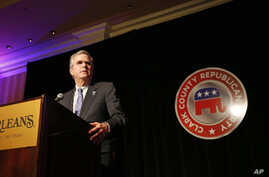 Former Florida Governor Jeb Bush speaks at a Republican party dinner, May 13, 2015, in Las Vegas, Nevada.