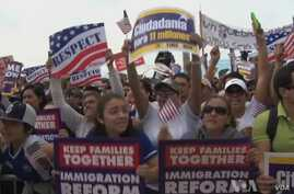 Thousands Rally for Immigration Reform Stalled by Gov't Shutdown