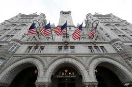 FILE - The Trump International Hotel in Washington is pictured, Dec. 21, 2016. President Donald Trump will hold his first re-election fundraiser at his own hotel in Washington on June 28, 2017.