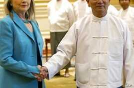 Clinton Challenges Burma to Expand Reforms