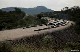 Partially constructed track, a part of the Transnordestina railway, is seen in Custodia, Pernambuco, Brazil, Jan. 26, 2014.