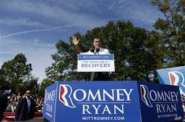 Republican presidential candidate, former Massachusetts Governor Mitt Romney speaks at a campaign stop at Tidewater Community College in Chesapeake, Virginia, October 17, 2012.