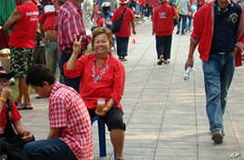 A Red Shirt rally in Bangkok has a carnival-like atmosphere, 18 Mar 2010