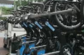 Thousands of bicycles are being placed around London to help ease transportation problems.