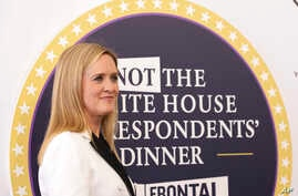 """Samantha Bee arrives for """"Full Frontal with Samantha Bee's Not the White House Correspondents' Dinner"""" at DAR Constitution Hall in Washington, April 29, 2017."""