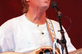 FILE--John Denver is shown performing in Moscow, July 1, 1985.