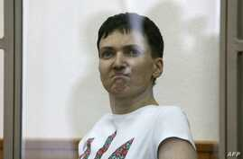Hunger-striking Ukrainian military pilot Nadiya Savchenko, accused of involvement in the killing of two Russian journalists in war-torn Ukraine, delivers her final statement to the court in the southern Russian town of Donetsk, on March 9, 2016.