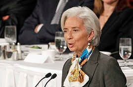 Christine Lagarde, Managing Director of IMF, speaks at the Economic Club of New York,  April 10, 2013.
