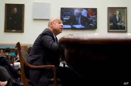 Homeland Security Secretary Jeh Johnson testifies on Capitol Hill in Washington, July 14, 2015.
