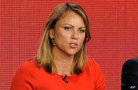 """FILE - Lara Logan, reporter for """"60 Minutes,"""" attends a panel discussion in Pasadena, California, Jan. 12, 2013."""